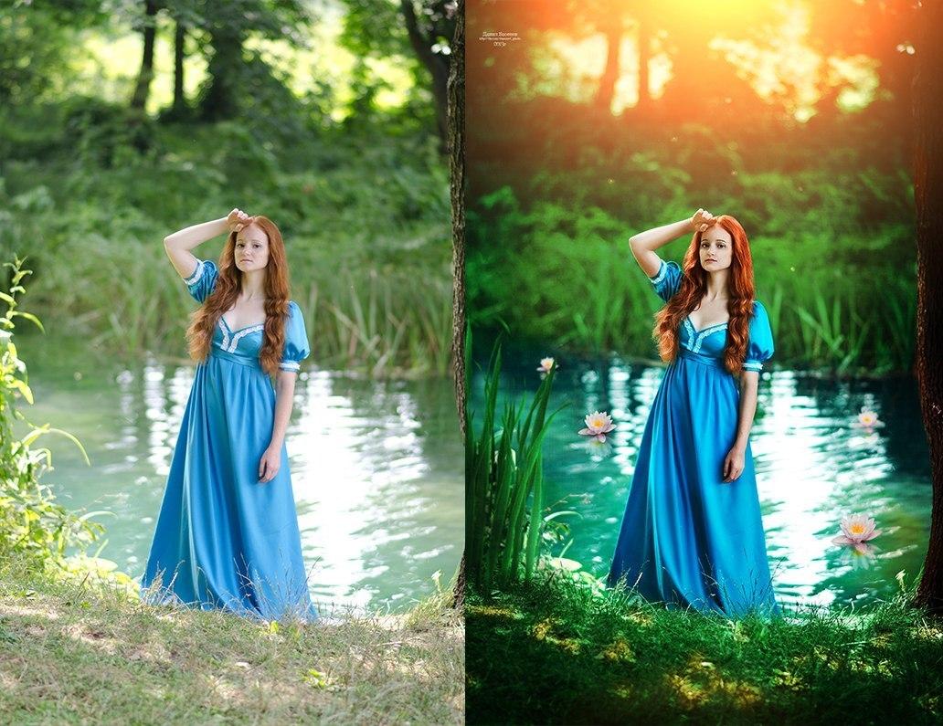 Красивая обработка фотографий цветогармонизация совсем завершенном