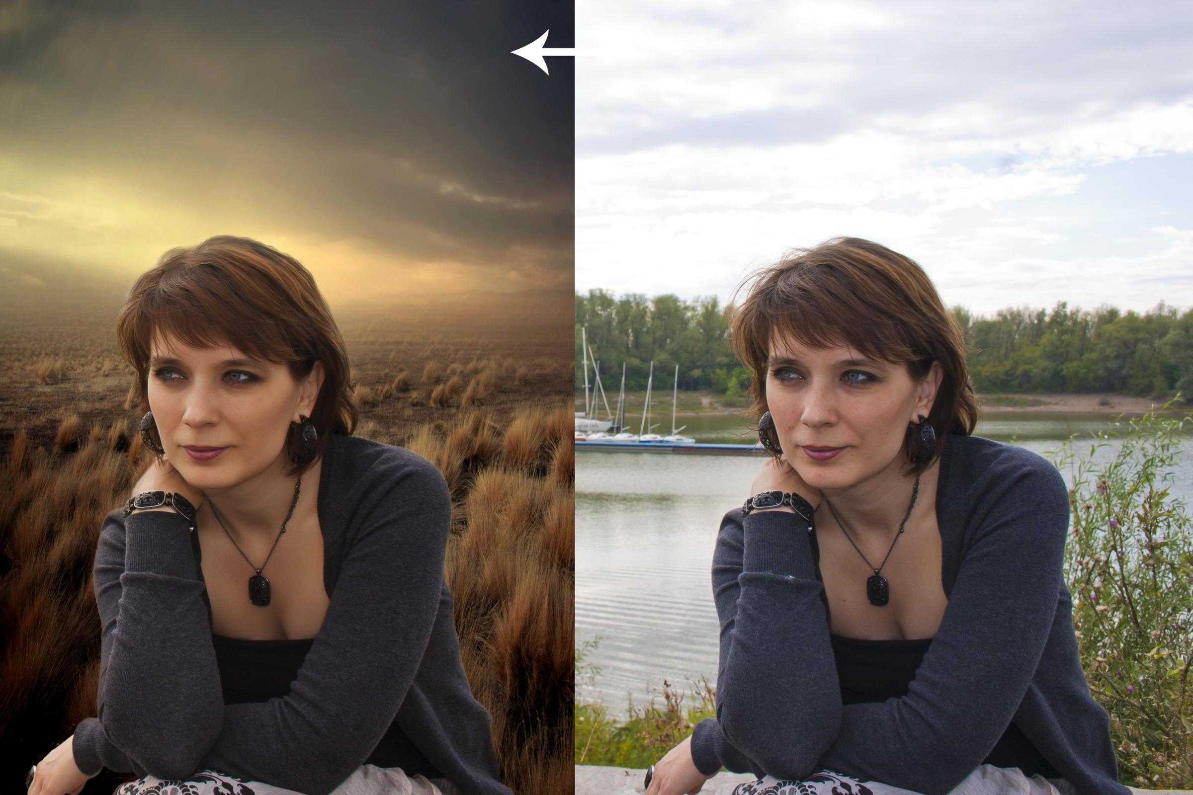 Поменять фото на фото онлайн