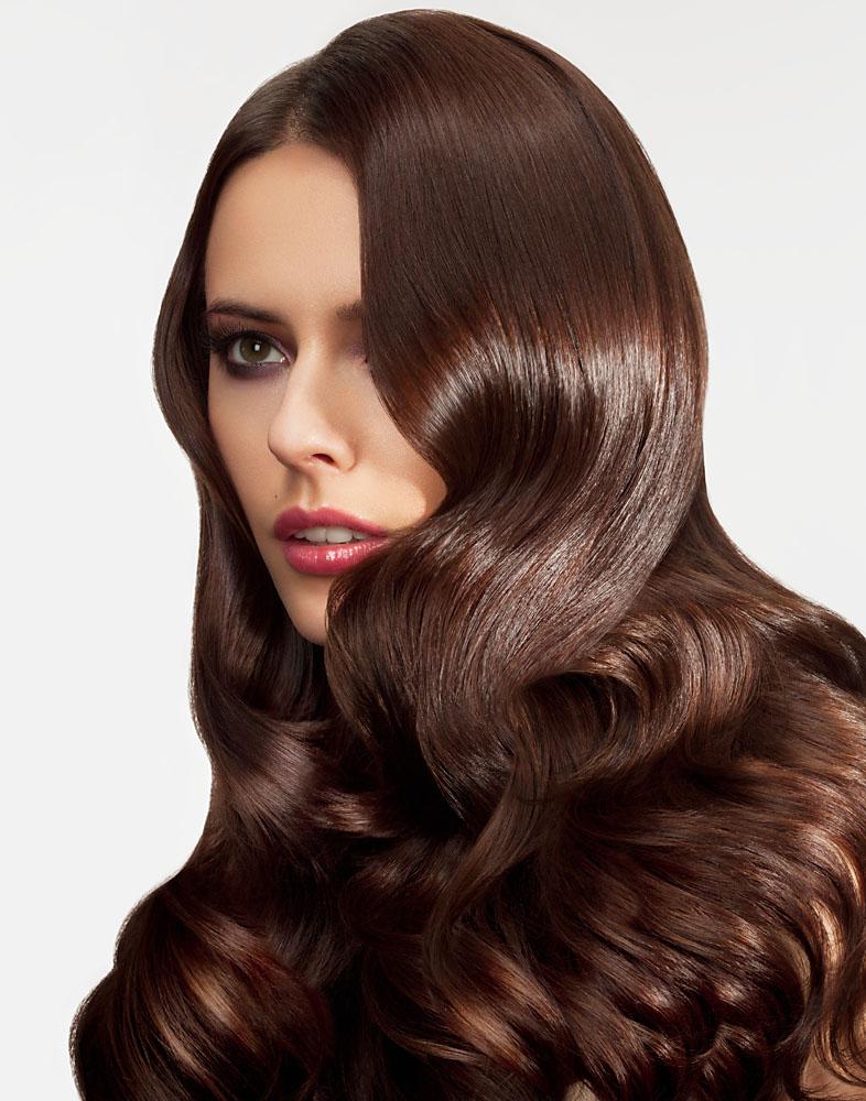 интенсивный каштановый цвет волос фото даже если