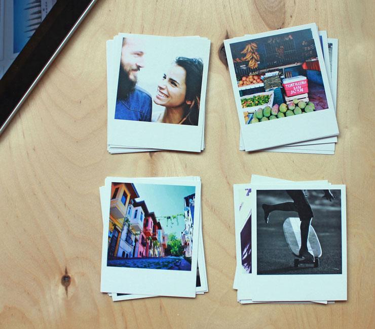 печать полароид фото